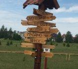 Указатели деревянные декоративные